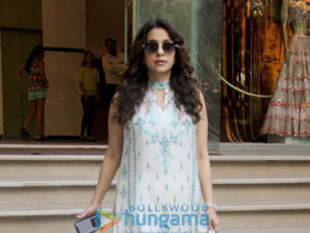 Juhi Chawla spotted at Aza store