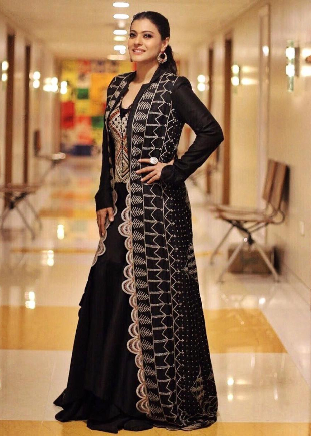 Kajol in Anamika Khanna for Helicopter Eela promotions (1)