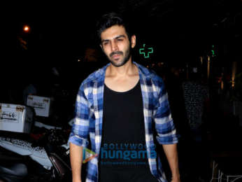 Kartik Aaryan spotted at Fable in Juhu