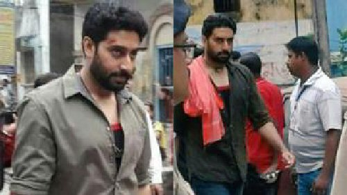 LEAKED! Abhishek Bachchan gets rugged and real on the sets of Anurag Basu's next