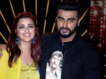 Parineeti Chopra and Arjun Kapoor snapped on sets of the show India's Best Dramebaaz