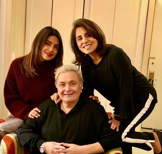Priyanka Chopra, Rishi Kapoor, Anupam Kher and Neetu Kapoor meet Sonali Bendre in New York