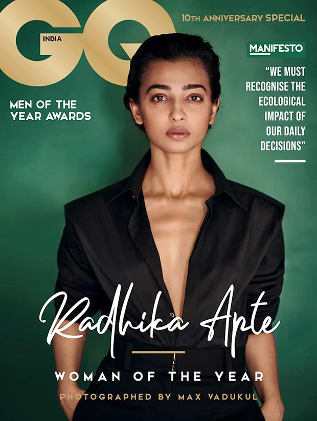 Raw, Uncut and Incredibly Sensual - Radhika Apte towers tall as the GQ Woman of the Year on the cover this month!