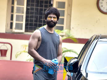 Shahid Kapoor snapped outside the gym