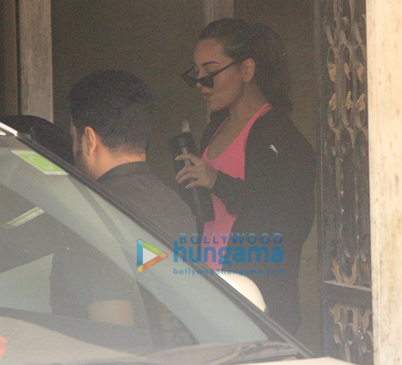 Sonakshi Sinha snapped outside a gym
