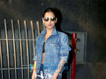 Sonal Chauhan snapped outside the gym in Khar