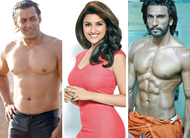 WATCH Who looks better WITHOUT A SHIRT – Salman Khan or Ranveer Singh Parineeti Chopra answers