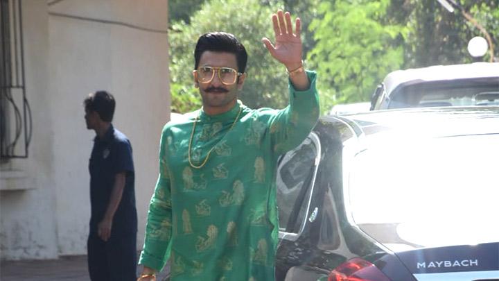 Deepika Padukone and Ranveer Singh spotted at Sanjay Leela Bhansali's residence