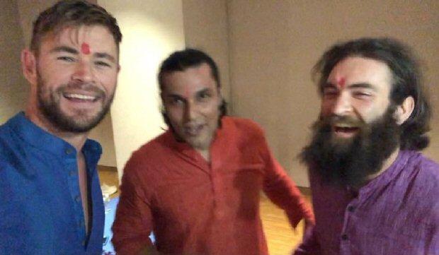Diwali 2018: Chris Hemsworth celebrates the festival of lights with Randeep Hooda in Ahmedabad