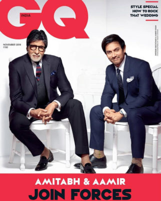 Amitabh Bachchan and Aamir Khan On The Cover Of GQ India, November 2018