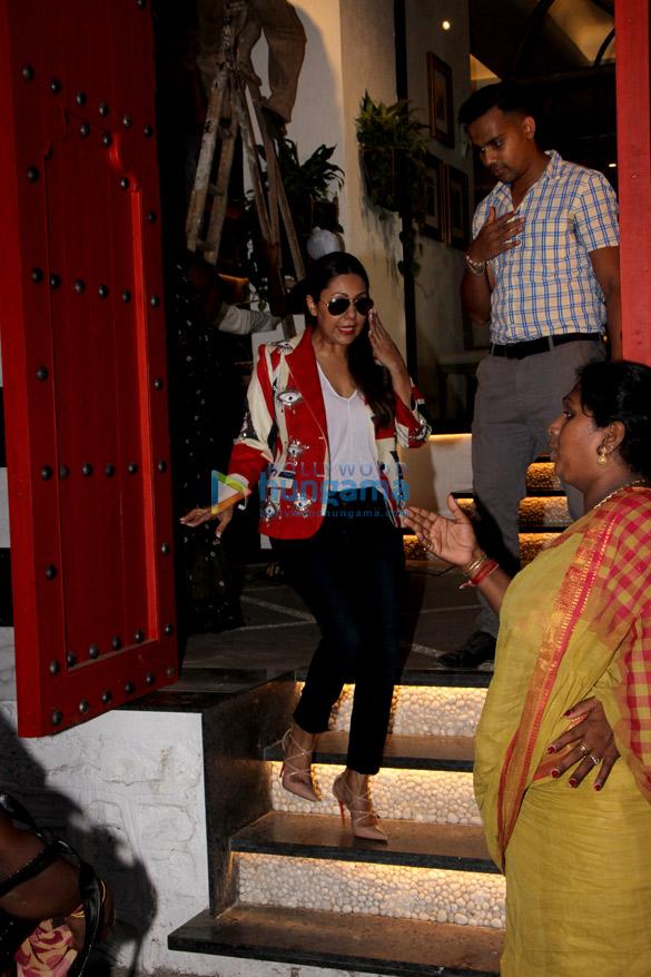 Gauri Khan snapped at The Korner House