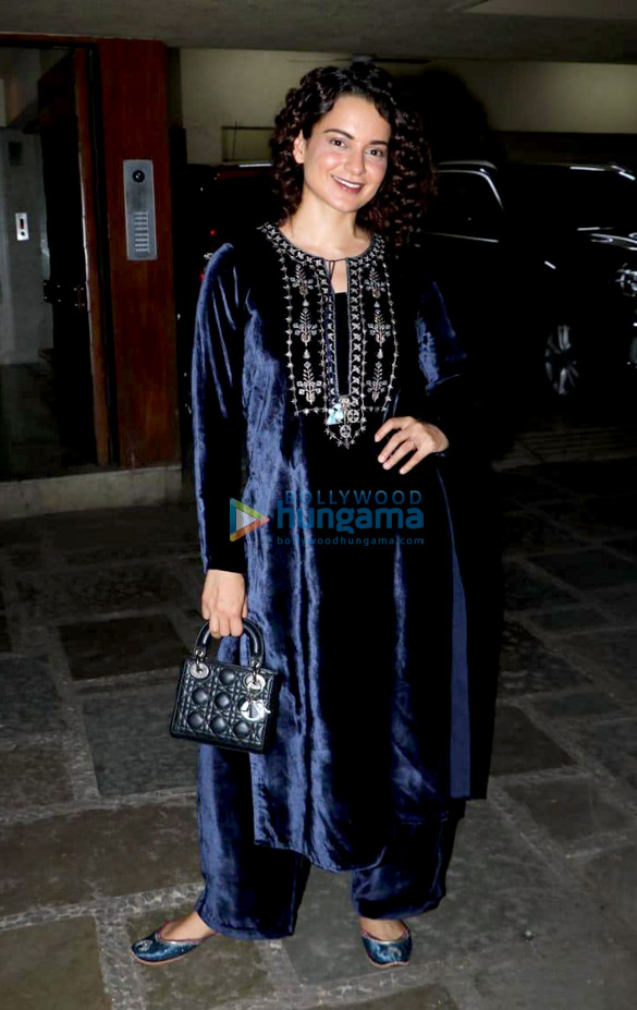 Kangana Rananut in Anita Dongre for a birthday bash (1)