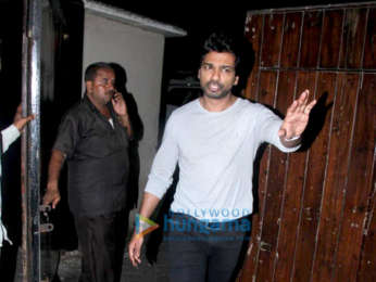 Nikhil Dwivedi and Madhu Mantena snapped at Salman Khan's residence