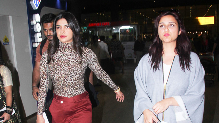 Priyanka Spotted with Sisiter Parineeti