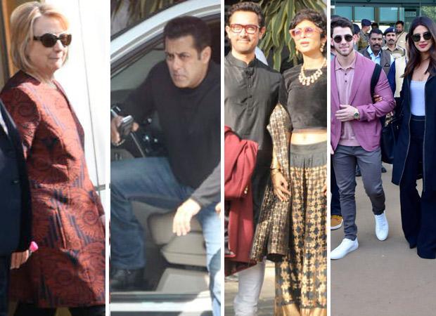Hillary Clinton, Salman Khan, Aamir Khan, Priyanka Chopra, Nick Jonas arrive in Udaipur for Isha Ambani - Anand Piramal's grand wedding
