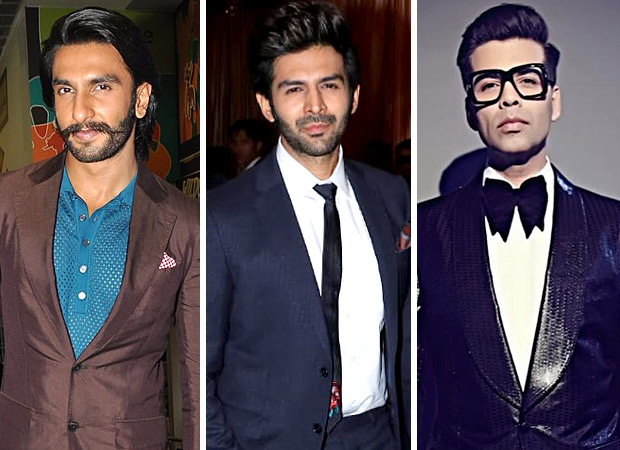 PARTY VIDEO Ranveer Singh dances to 'AANKH MAAREY' with Kartik Aaryan, Karan Johar