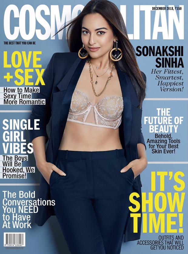 Oo La La! Sonakshi Sinha's bare toned abs have us dazed on the cover of Cosmopolitan this month!