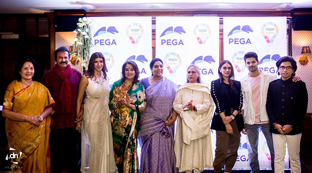 Aditi Rao Hydari unveils the Pega Teach For Change Nationwide movement along with Jaya Bachchan, Taapsee Pannu and Rakul Preet Singh