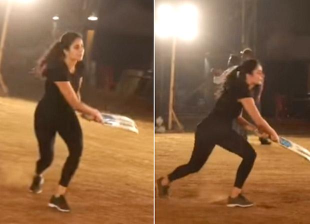After Salman Khan, Katrina Kaif Showcases Her Batting Skills On The Sets Of Bharat, Asks Anushka Sharma To Put In A Good Word With Virat Kohli