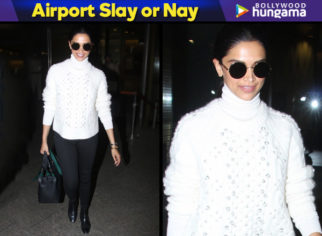 Airport Slay or Nay - Deepika Padukone monochrome style (Featured)