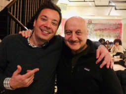 Anupam Kher meets The Tonight Show host Jimmy Fallon