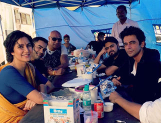 BHARAT diaries Katrina Kaif looks radiant in RETRO LOOK with Sunil Grover in the latest pic from the sets