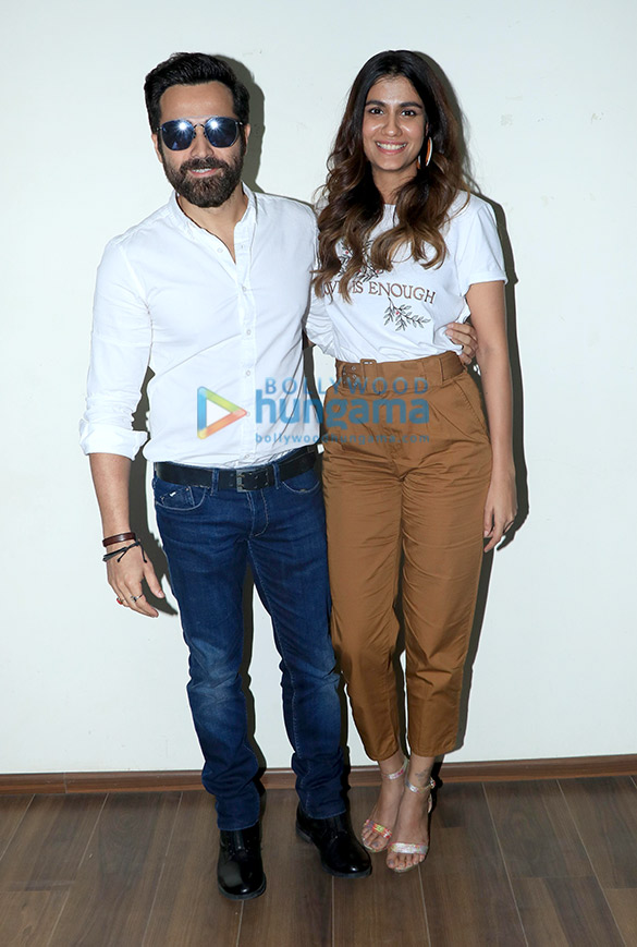 Emraan Hashmi and Shreya Dhanwanthary snapped at the T-Series office in Andheri