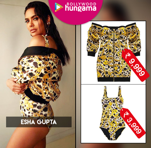 Damn, Esha Gupta - You Are On Fire In This Printed Yellow Swimsuit!