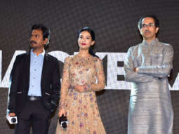 Film Thackeray Music Launch Nawazuddin Siddiqui Amrita Rao Uddhav Thackeray Aditya Thackeray