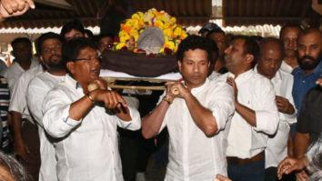 Funeral of Sachin Tendulkar & Vinod Kambli's coach Ramakant Achrekar