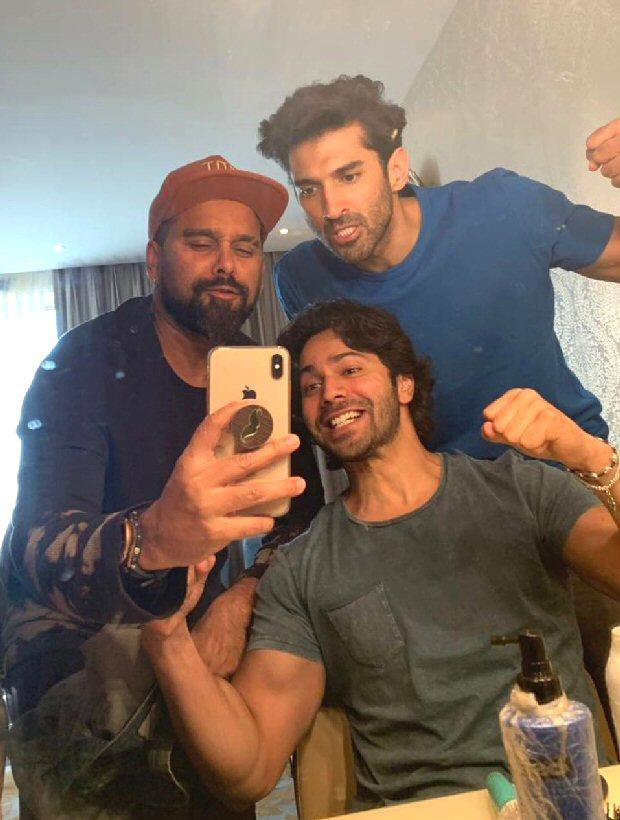 KALANK Varun Dhawan and Aditya Roy Kapur bond on the sets of the film and here's the proof!-
