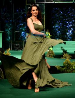 Kangana Ranaut walks the ramp at the Aditya Birla LiveEco fashion show