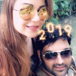 Kapil Sharma and Ginni Chatrath strike a lovey dovey pose, usher in New Year