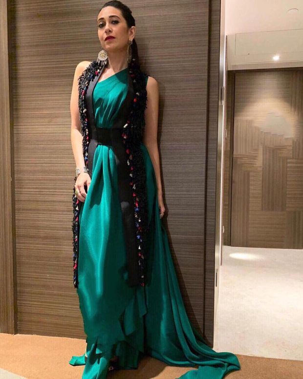 Slay Or Nay: Karisma Kapoor In Anamika Khanna For A Brand Endorsement Event In The City