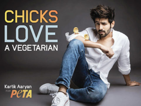 Kartik Aaryan appointed as the new face of PETA India