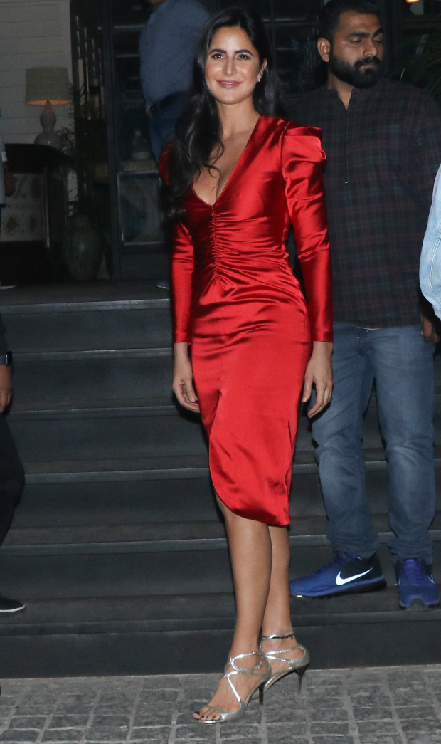 Slay Or Nay: Katrina Kaif In An Inr 50,890/- Jonathan Simkhai Red Dress For Ali Abbas Zafar's Birthday Bash