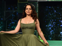 Manikarnika Star Kangana Ranaut walk The RAMP as Showstopper at the launch of India's first ever Eco-Friendly Fibre