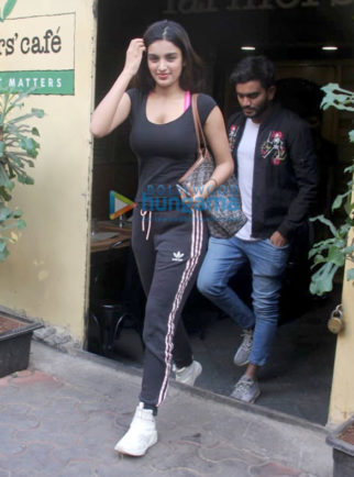 Nidhhi Agerwal spotted at Farmers' Cafe in Bandra