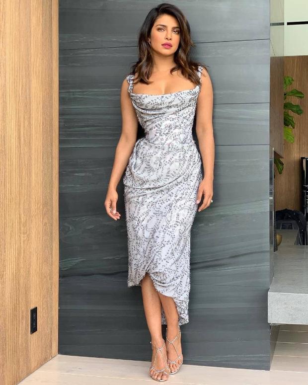 Priyanka Chopra in Vivienne Westwood for The Ellen Show (1)