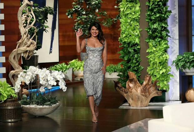 b16883cc32 Slay or Nay  Priyanka Chopra in a Vivienne Westwood dress and Jimmy ...