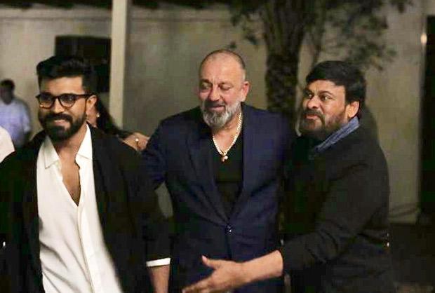 PHOTOS: Sanjay Dutt meets superstars Chiranjeevi and Ram Charan in Hyderabad