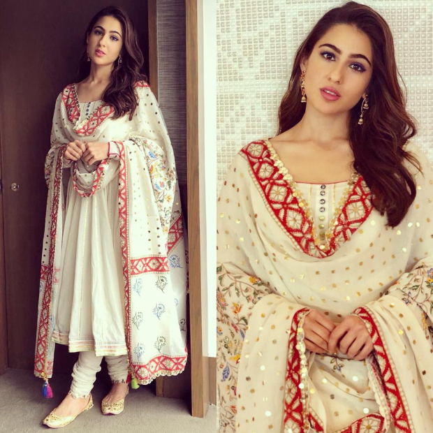 Slay Or Nay: Sara Ali Khan In Sukriti And Aakriti And Rs, 7,800/- Needledust Juttis For An Event In Singapore