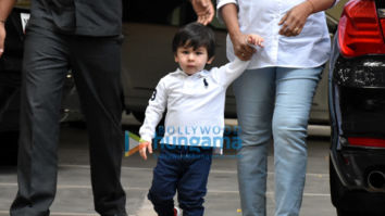 Taimur Ali Khan and Inaaya Naumi Kemmu spotted at play school in Bandra