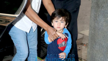 Taimur Ali Khan snapped at Soha Ali Khan's residence in Bandra
