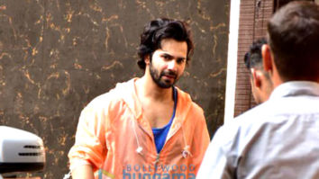 Varun Dhawan spotted at gym in Juhu
