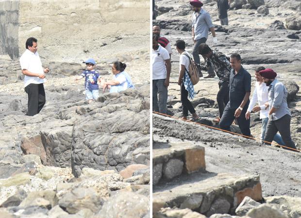 Taimur Ali Khan Steals Saif Ali Khan's Thunder On Sacred Games 2 Sets (see Inside Pics)