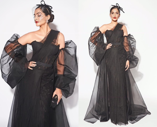 Best Dressed - Sonam Kapoor Ahuja in Shehlaa and Philip Treacy