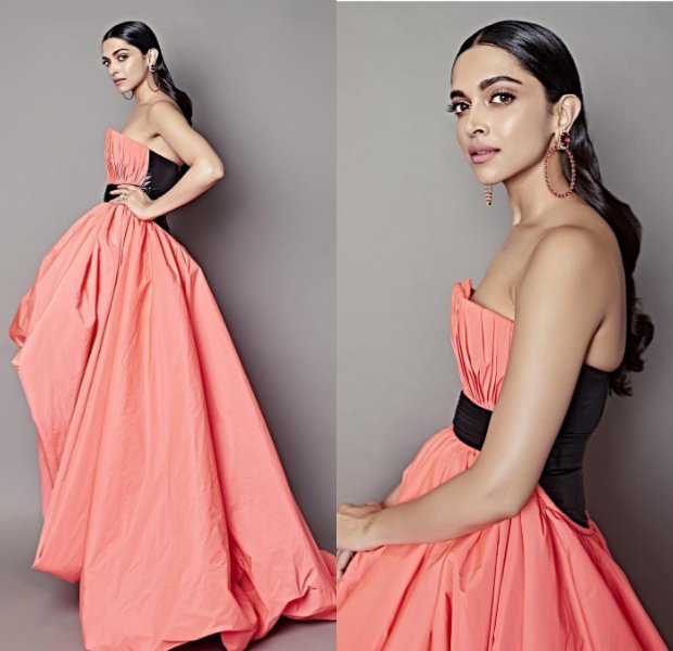 Deepika Padukone in Jean-Louis Sabaji Couture for Filmfare Glamour and Style Awards 2019