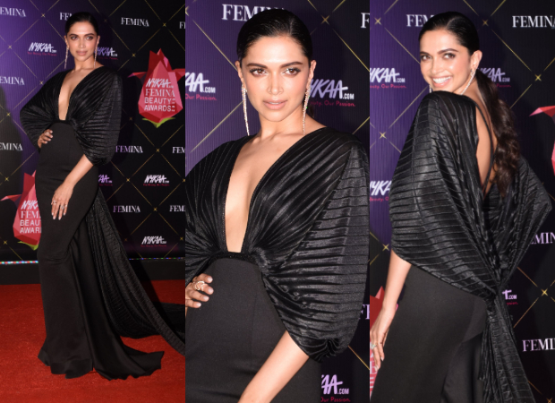 Deepika Padukone looks glamorous in black Amit Aggarwal gown for Nykaa-Femina Beauty Awards 2019 (1)