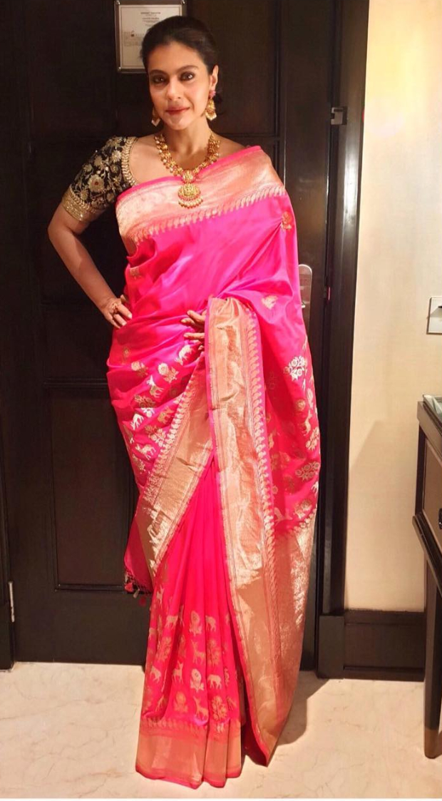 Uh, Nothing Much! Kajol Devgan's Pretty Pink Saree Is Just For Inr 47,650/- From Soundarya Rajinikanth's Wedding!